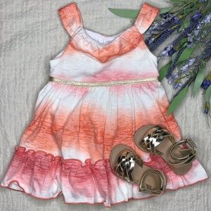 Summer dress & gold sandals